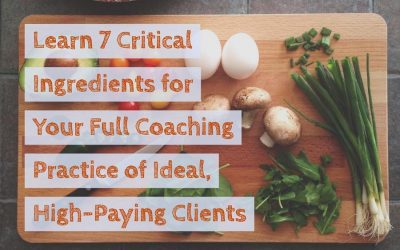 The 7 Critical Ingredients For Your Full Practice of Ideal, High-Paying Coaching Clients
